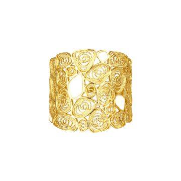 anel honey de filigrana em prata sui jewellery silver ring filigree nana