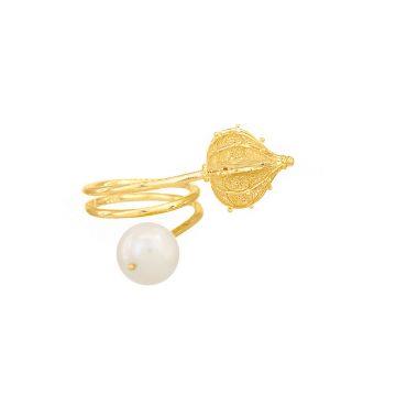 sui joias anel prata filigrana perolas essence jewellery silver ring filigree pearl nana