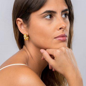 brinco hoop honey de filigrana em prata joias sui jewellery silver earring filigree nana