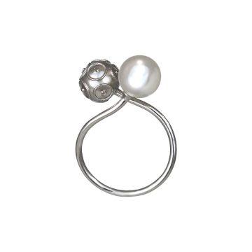 anel beads pearl joias sui jewellery prata contas bolas viana perola nana jewellery moderno silver