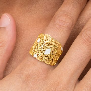 anel honey joias sui jewellery filigrana nana prata esmalte silver filigree