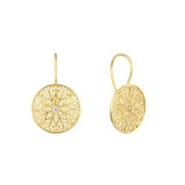 brinco astral in gold filigrana ouro joias sui jewellery earrings tradicional modern filigree ines barbosa