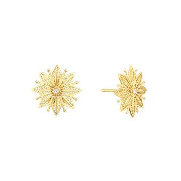 brinco astral star in gold filigrana ouro joias sui jewellery earrings tradicional modern filigree ines barbosa