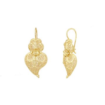 brinco coracao de viana joias sui jewellery prata filigrana jewellery silver earrings filigree portuguese heart nana
