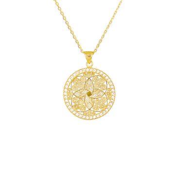 colar dream catcher joias sui jewellery filigrana prata zirconias silver necklace filigree nana
