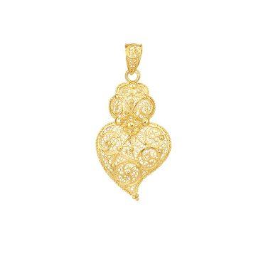 coracao de viana S in gold filigrana ouro joias sui jewellery pendente tradicional portuguese heart filigree pendant ines barbosa