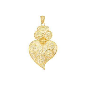 coracao de viana filigrana ouro joias sui jewellery pendente tradicional portuguese heart gold filigree pendant ines barbosa