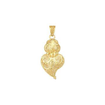 coracao de viana joias sui jewellery filigrana prata pendente silver pendant filigree portuguese heart nana