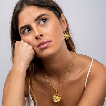 daisy pendente joias sui jewellery filigrana medalha flor prata filigree pendant silver nana