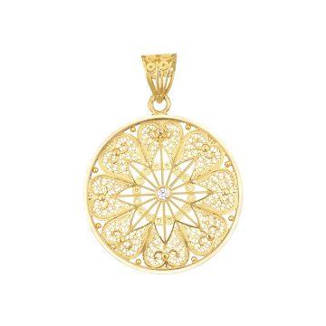 pendente astral in gold filigrana ouro joias sui jewellery pendant tradicional modern filigree ines barbosa