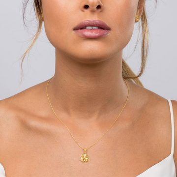 pendente clover in gold filigrana ouro joias sui jewellery pendant modern trevo modern filigree ines barbosa