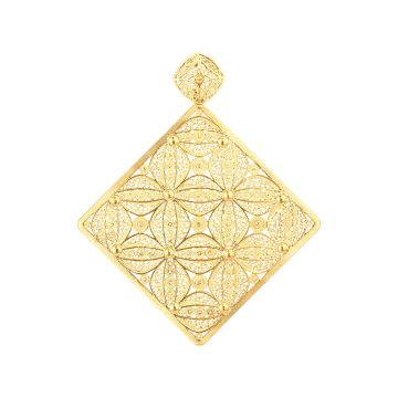 pendente pattern in gold filigrana ouro joias sui jewellery pendant modern padrao modern filigree ines barbosa