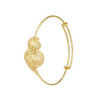 Pulseira coracao de viana joias sui jewellery filigrana prata bracelet silver filigree portuguese heart nana