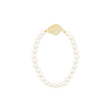 Pulseira coracao de viana s joias sui jewellery filigrana prata perolas bracelet silver filigree portuguese heart pearls nana