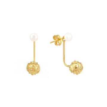 sui joias brincos prata dourada contas bolas viana perola nana jewellery silver