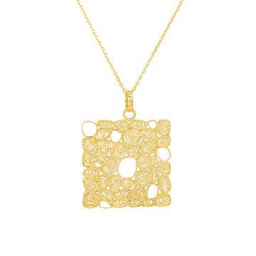 colar de filigrana em prata sui jewellery square honey esmalte silver necklace filigree nana