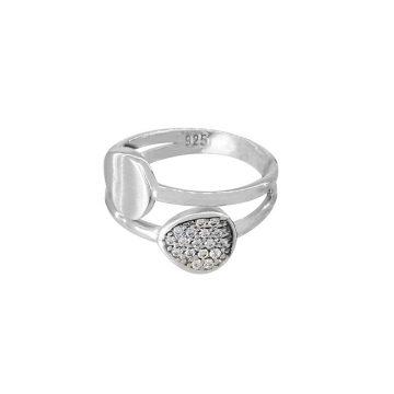 anel iris joias sui jewellery prata brilhantes pedra zirconia simples minimalista ring silver stone simple minimalist