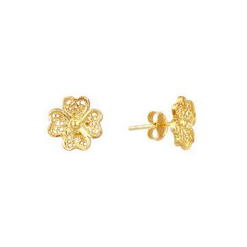 brinco mini clover joias sui jewellery filigrana nana filigree silver