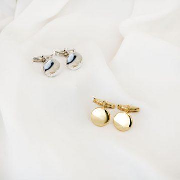sui botoes punho prata dourado simples gravar mulher homem cufflinks silver gold simple engrave vintage women men