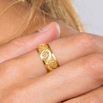 anel de ganchas ines barbosa filigrana jewels sui jewellry gold