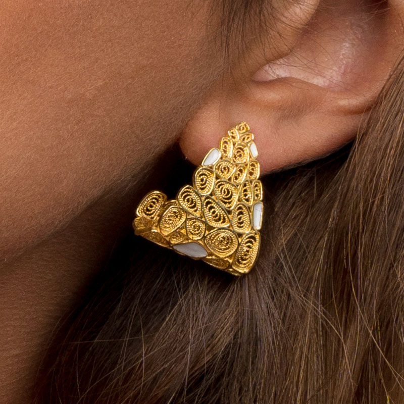 brinco hook joias sui jewellery filigrana nana prata esmalte silver filigree
